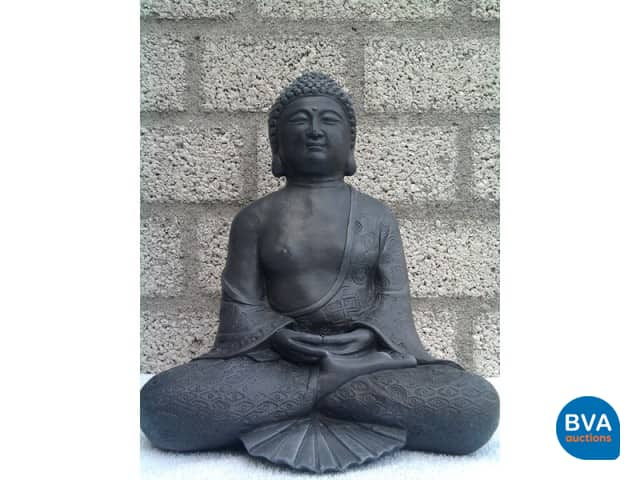 Boeddha Beeld Beton.Betonnen Beeld Model Boeddha Dhyana Middel Grijs Beton Antraciet