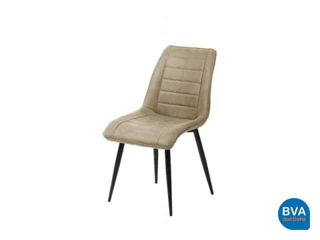 6 Design Stoelen.6 Design Stoelen Ashley Stripe Light Grey Bva Auctions Online