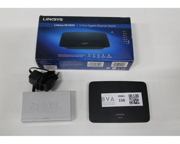 2 Linksys And Zyxel internet switch Se2500 &