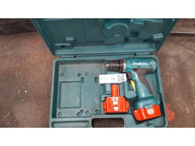 1 case, battery screw / drill, Makita 12 volt, 2 A  - 1 case