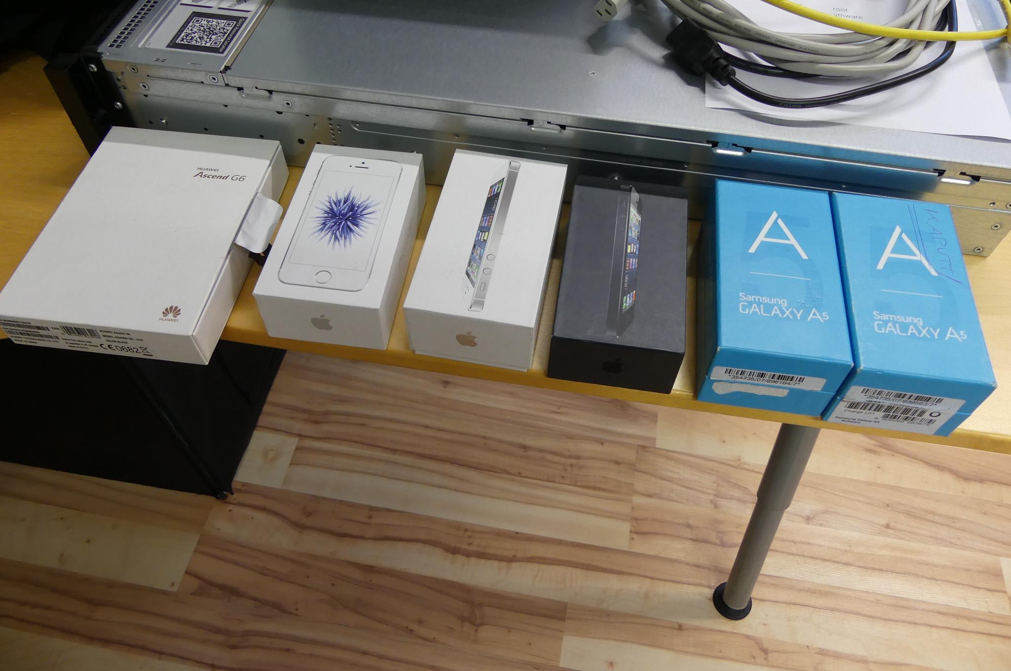 Posten Smartphones Apple, Samsung und Huawei