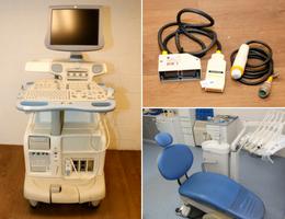 Echoscopie-, gynaecologie- en tandartsapparatuur